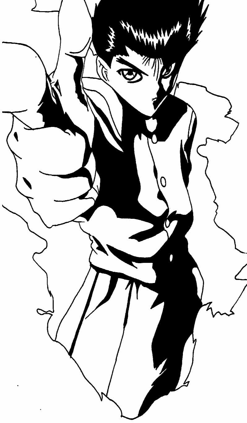 Desenhos de Animes para pintar