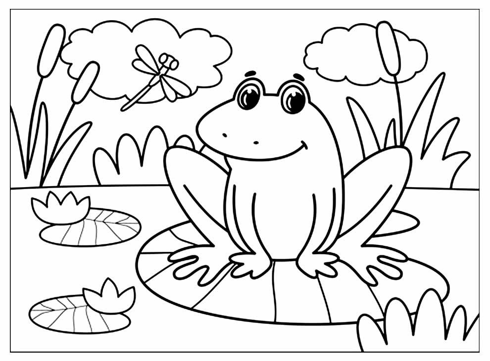 Desenho de Sapinho para pintar