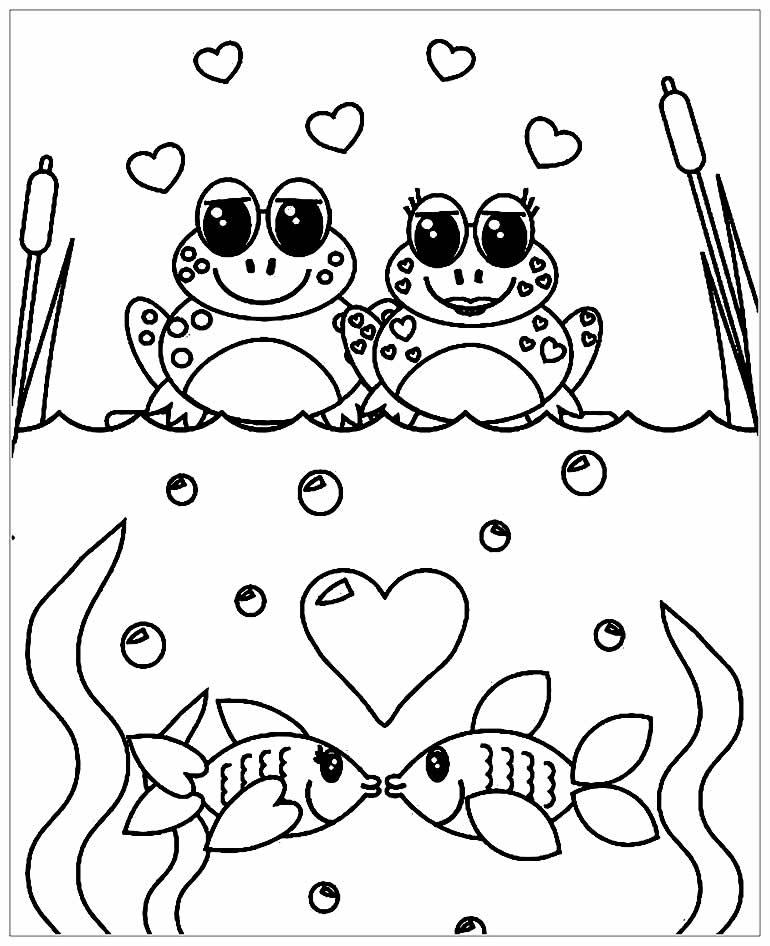 Desenho de Sapinhos para colorir
