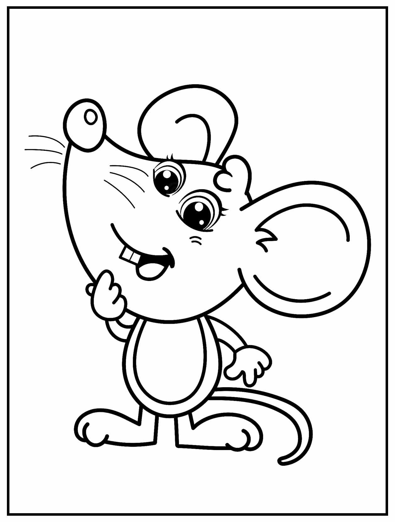 Página para colorir de Ratinho