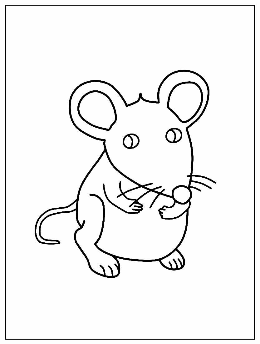 Desenho de Ratinho para pintar