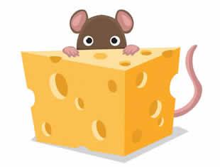 Páginas para colorir de Ratinho