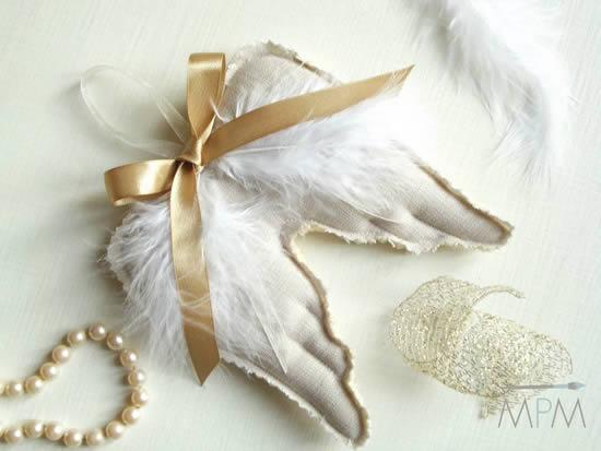 Asas de anjo para lembrancinha
