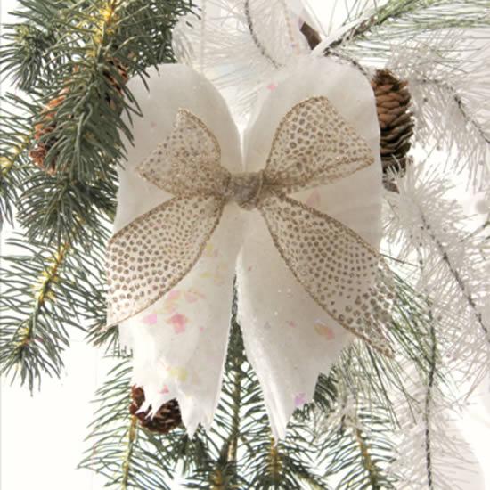 Asas de anjo para enfeite de Natal