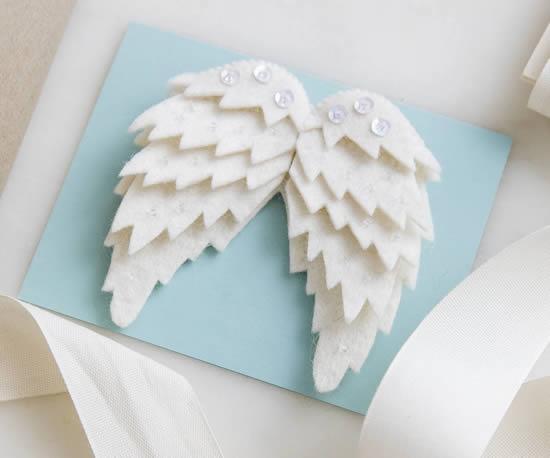 Asas de anjo para cartão