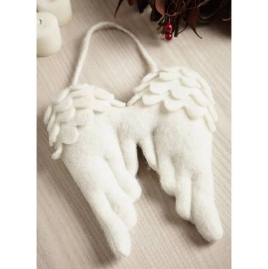 Asas de anjo em tecido