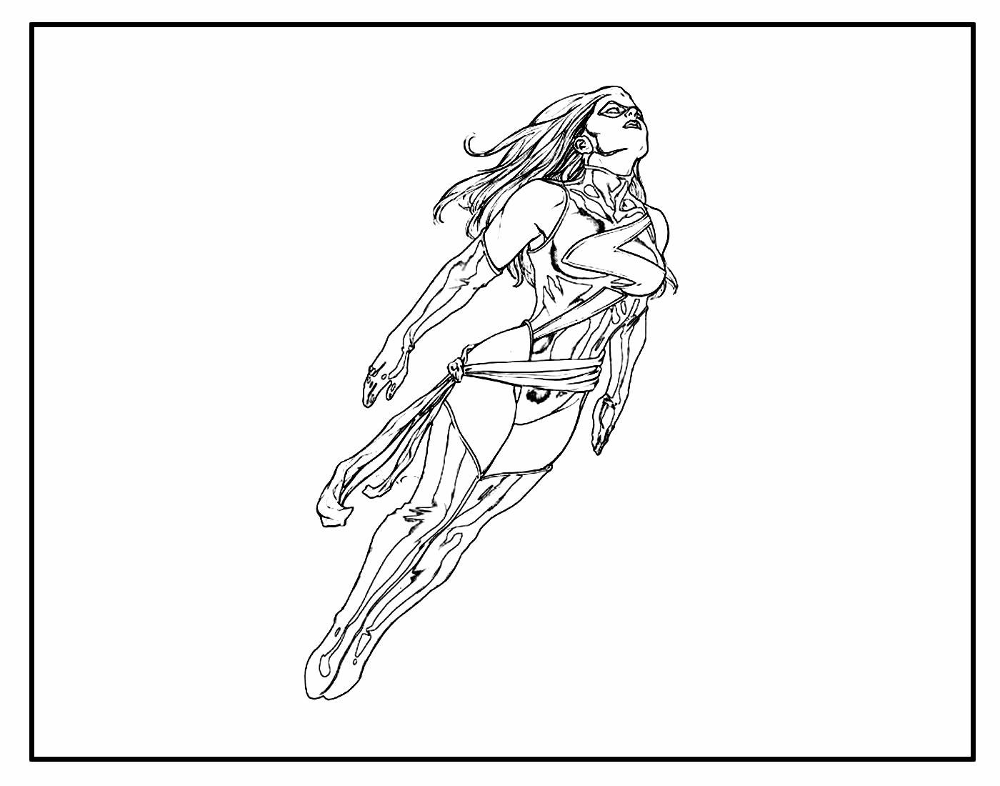 Desenhos para colorir da Capitã Marvel