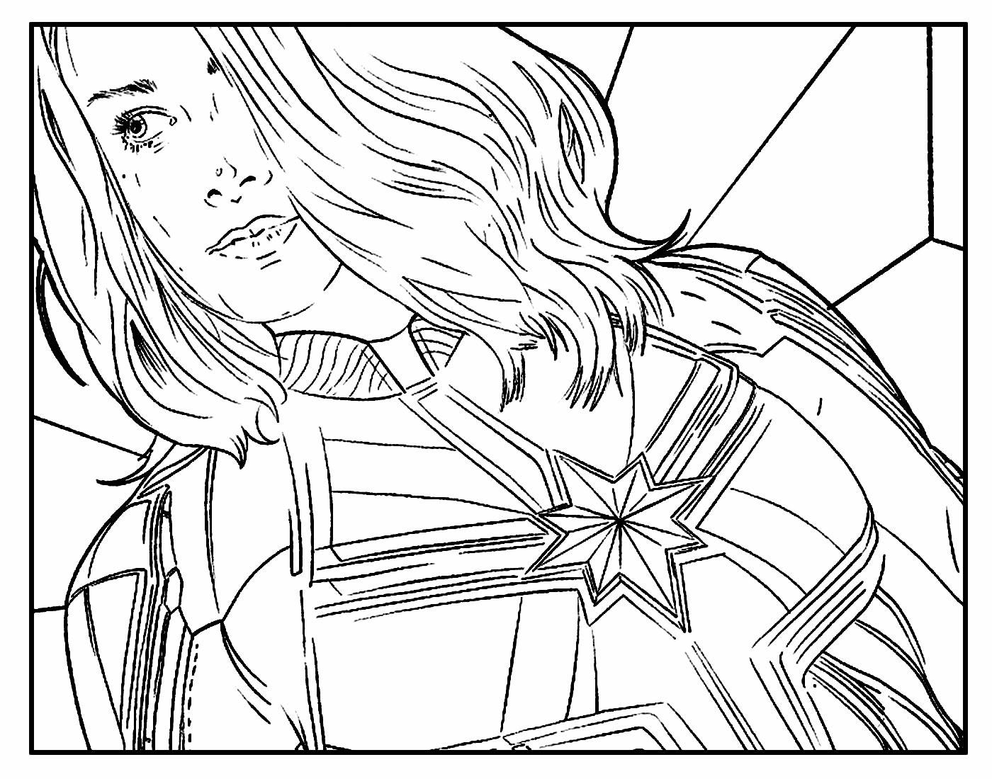 Desenhos lindos da Capitã Marvel