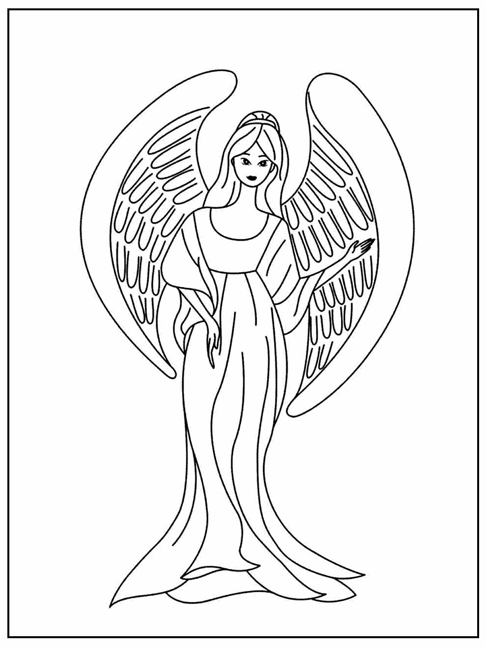 Desenho de Anja para colorir
