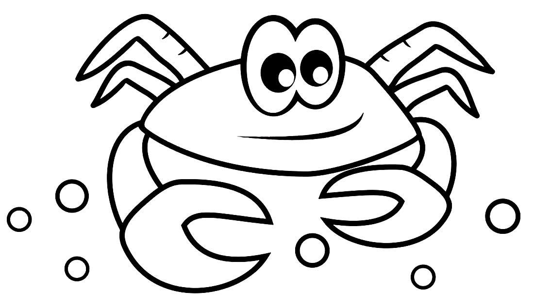 Desenho de Caranguejo para pintar e colorir