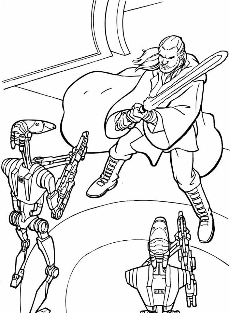 Desenho de Star Wars para colorir