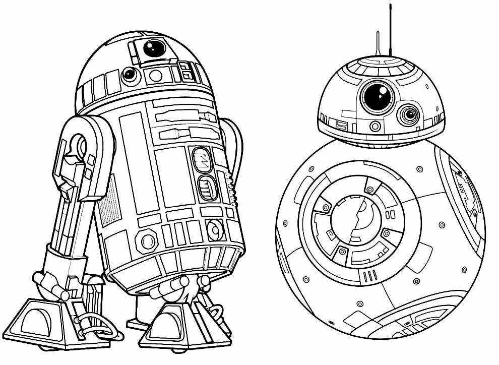 Desenho de Star Wars para pintar