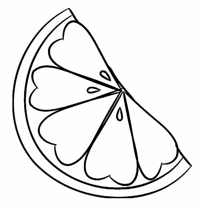 Desenho de Laranja para pintar