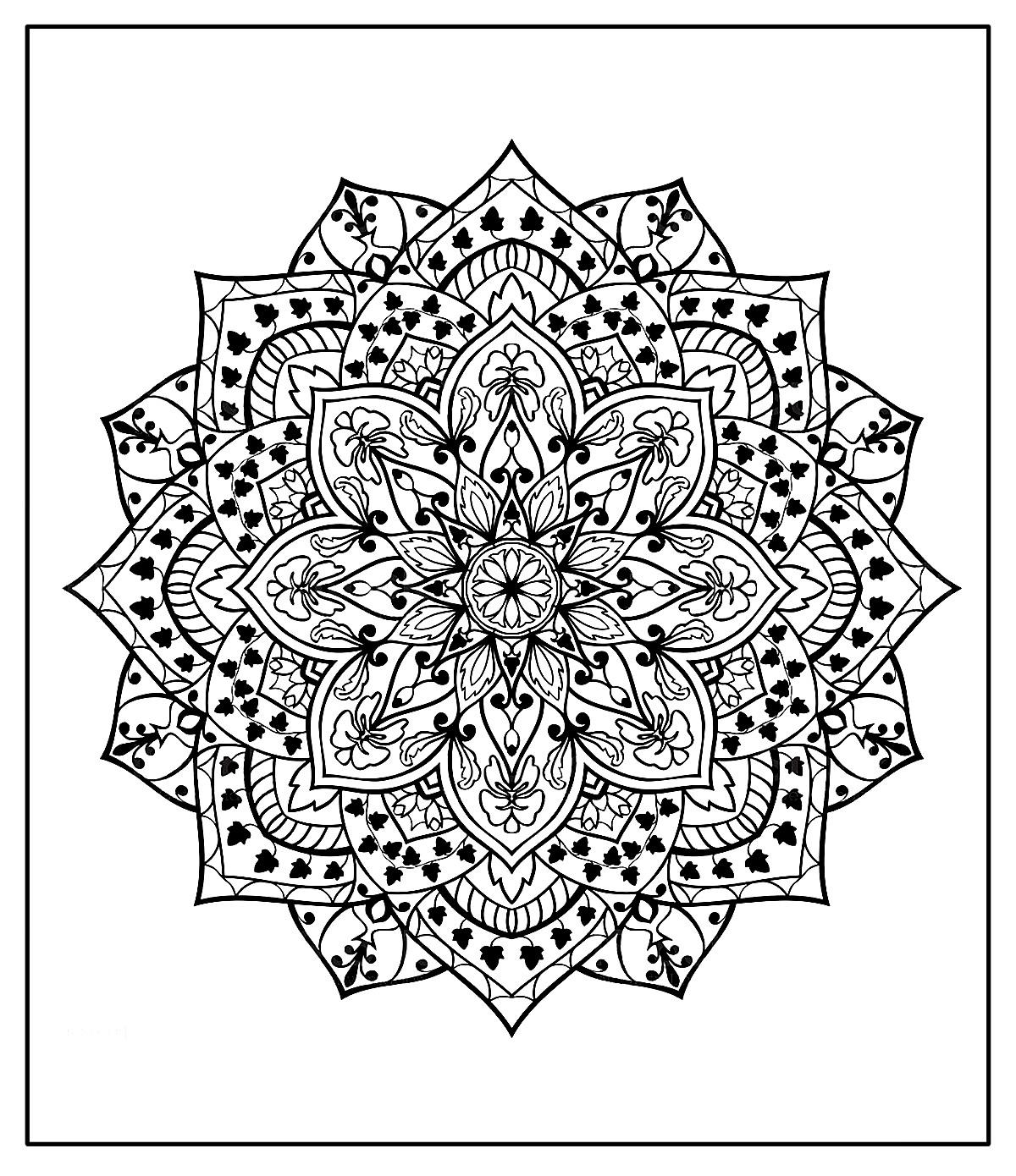 Página para colorir de Mandala