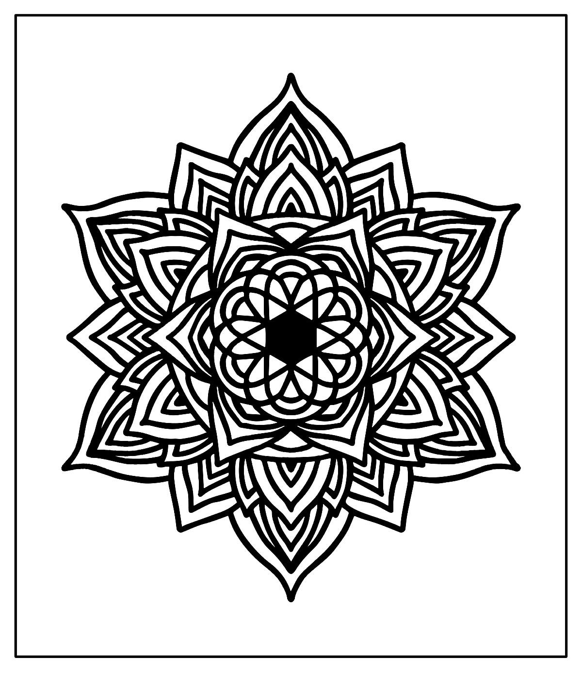 Páginas para colorir de Mandala
