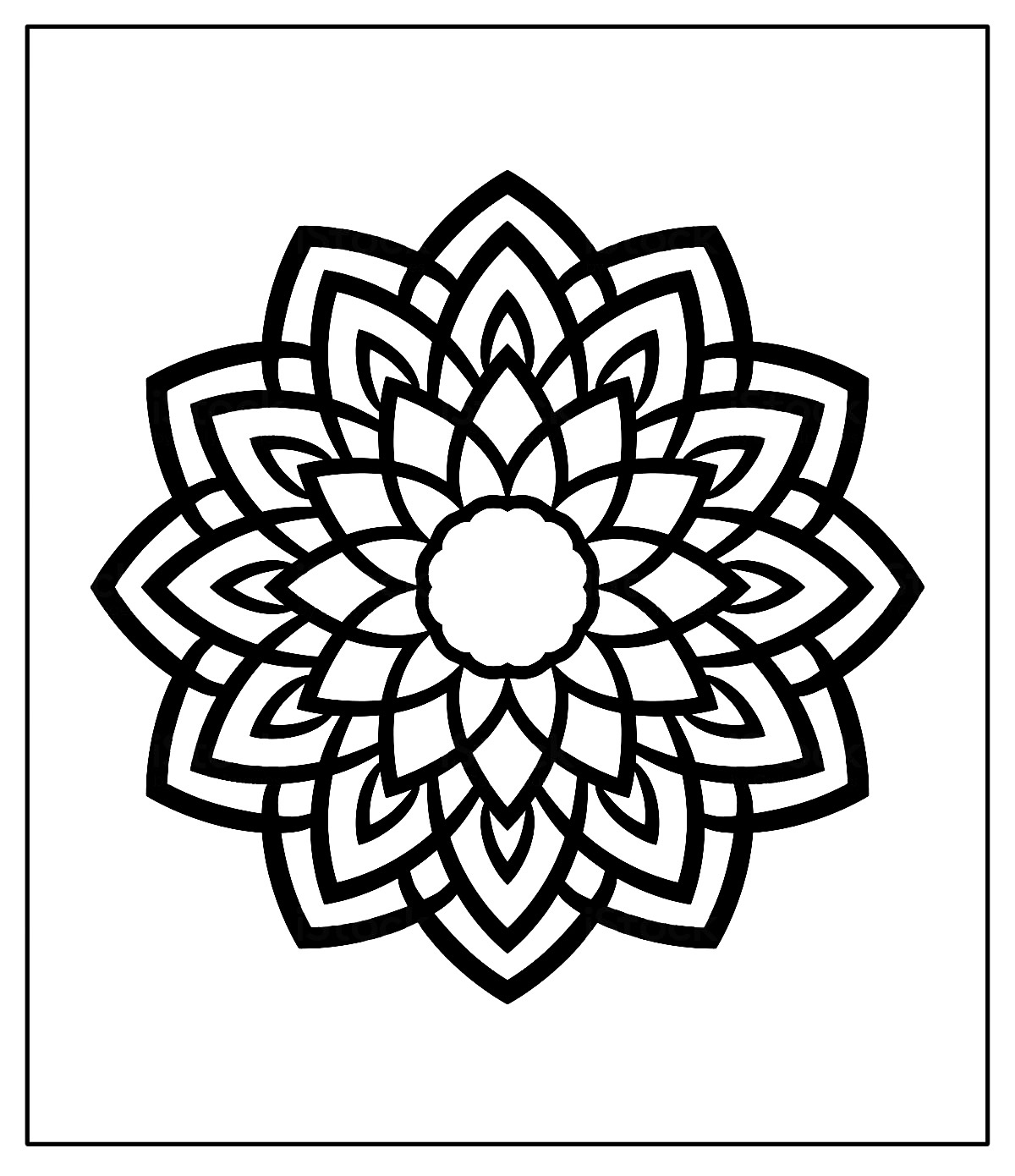 Desenhos de Mandala para pintar e colorir