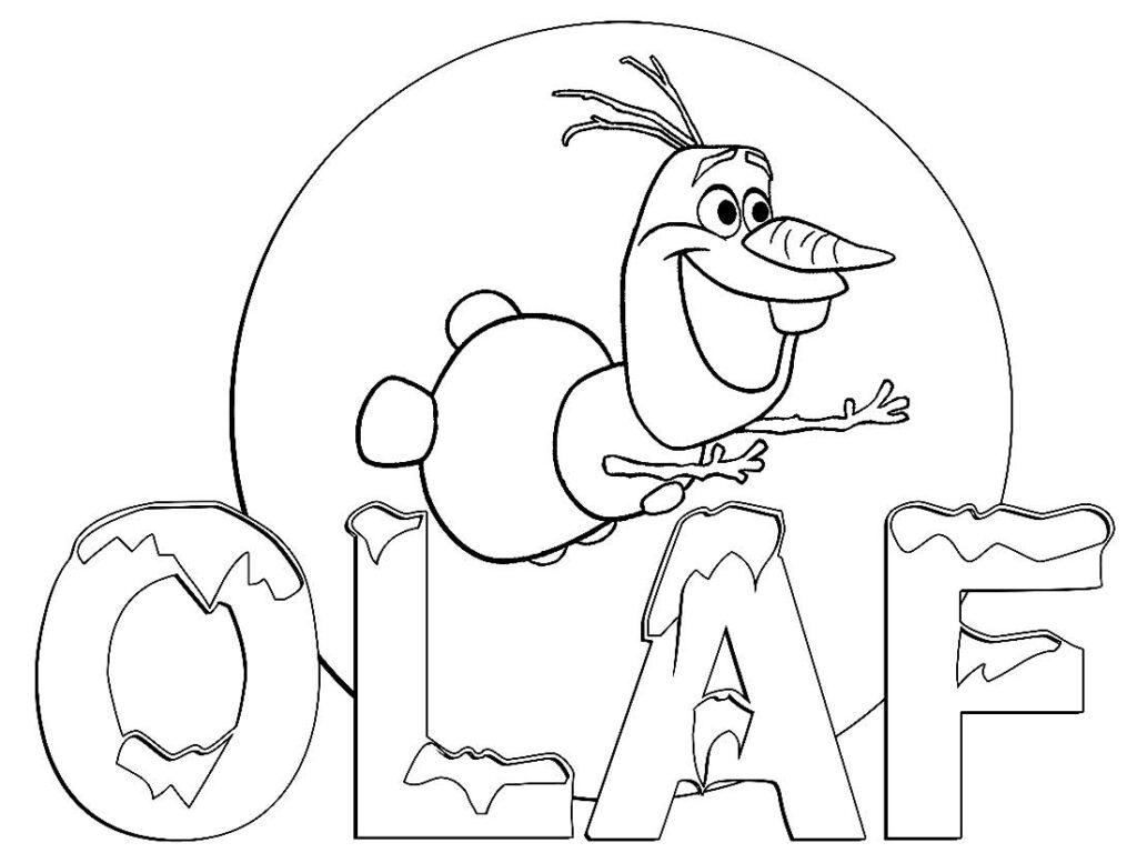 Desenho de Olaf para pintar