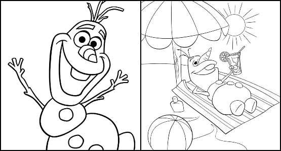 Desenhos do Olaf para colorir