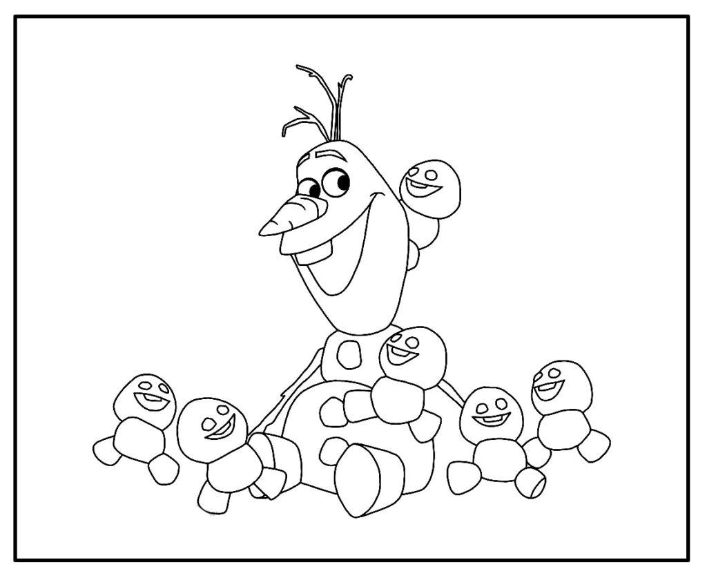 Desenho para colorir Olaf