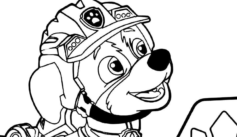 Desenho da Patrulha Canina para pintar
