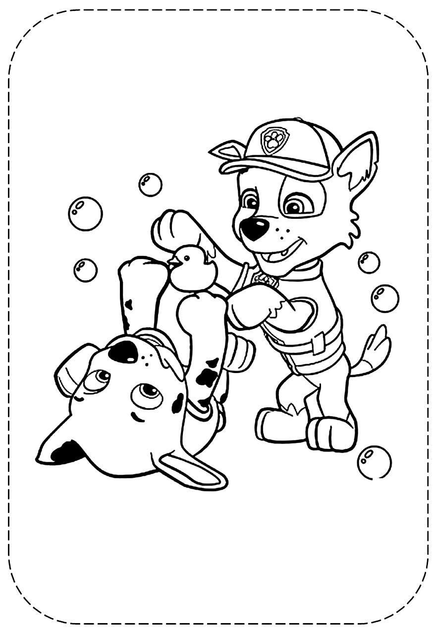 Desenho da Patrulha Canina para imprimir