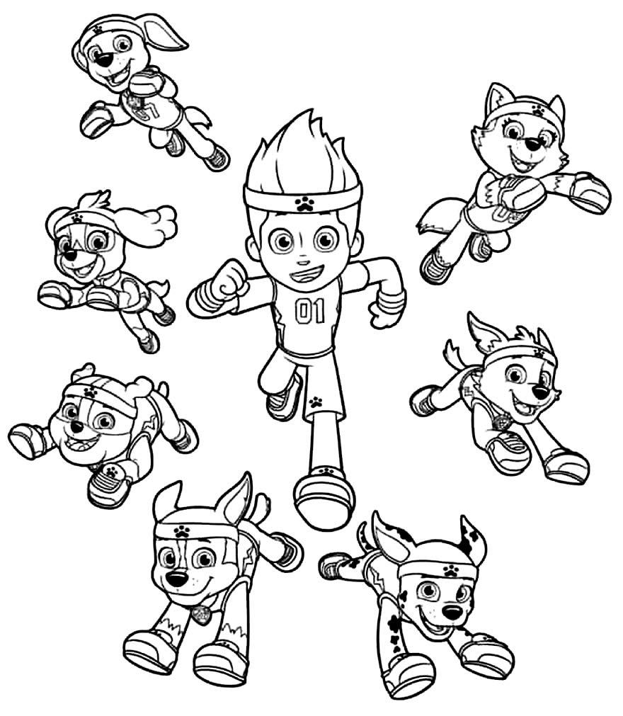 Desenho da Patrulha Canina para colorir e imprimir