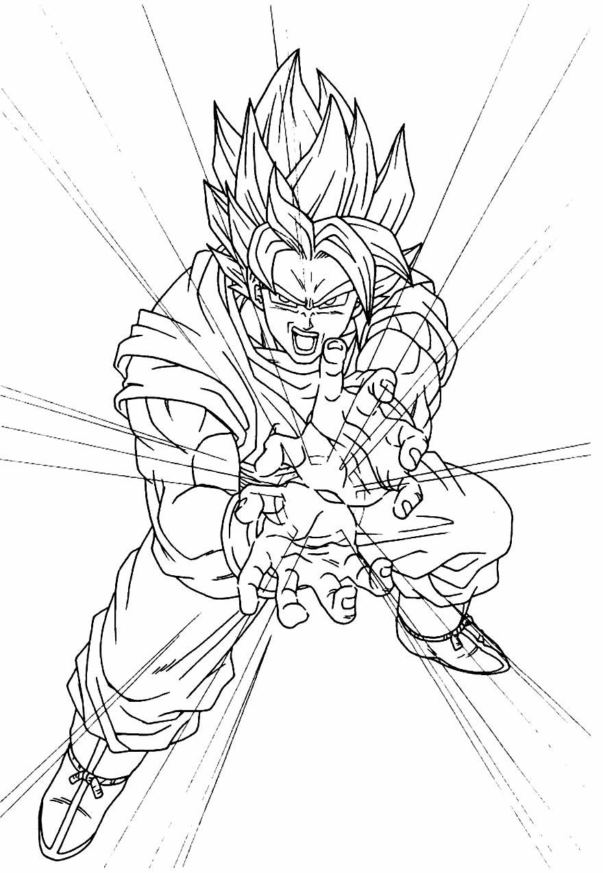 Desenho para pintar de Goku