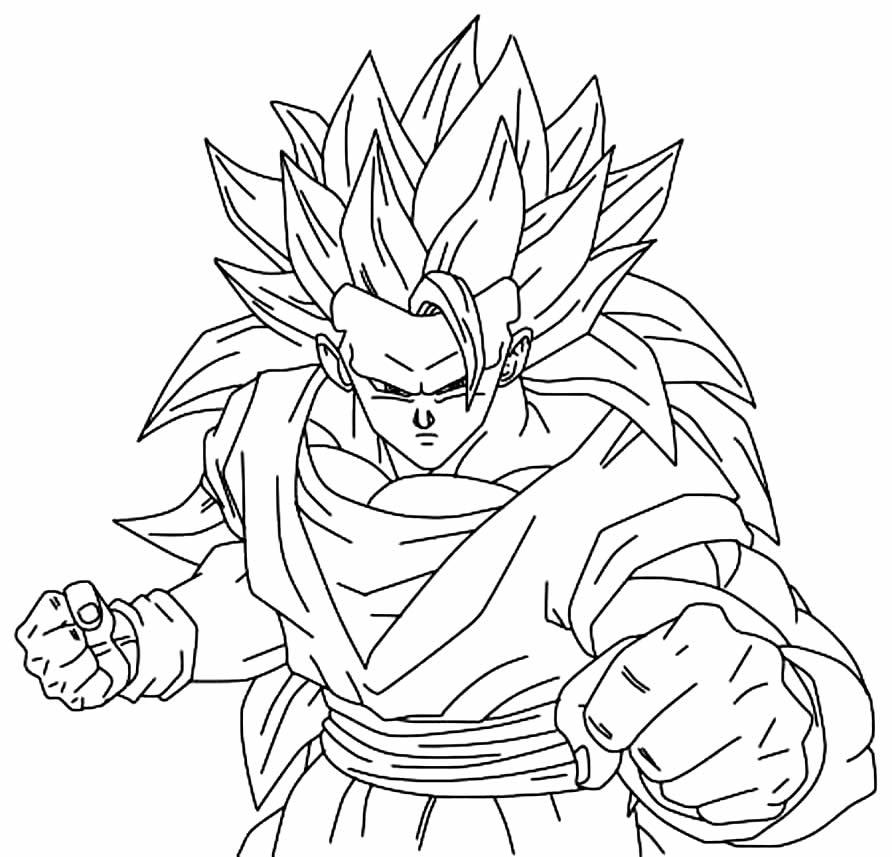 Imagem do Goku para pintar