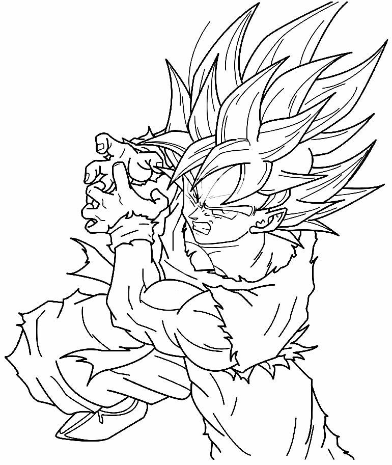 Imagem do Goku para colorir
