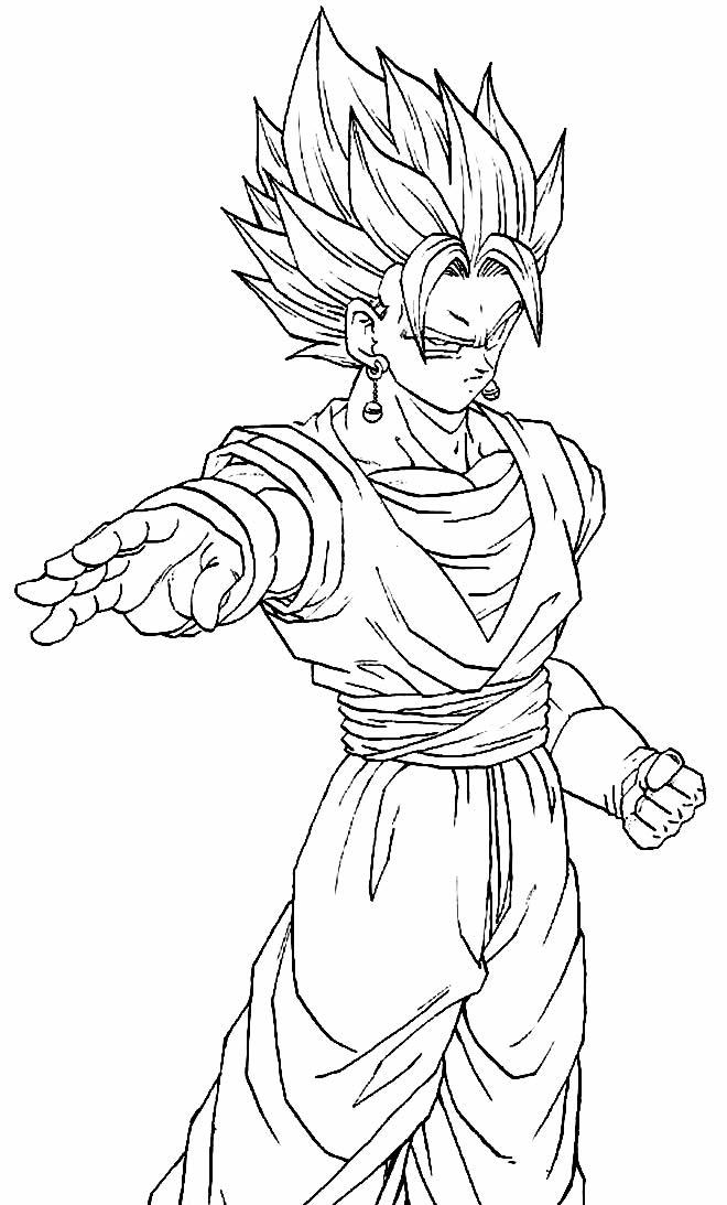 Desenho do Goku para imprimir e pintar