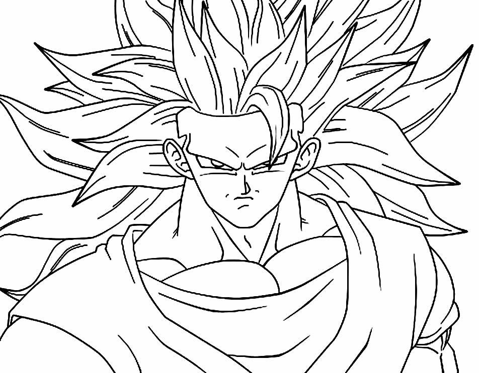 Desenho do Goku para imprimir e colorir