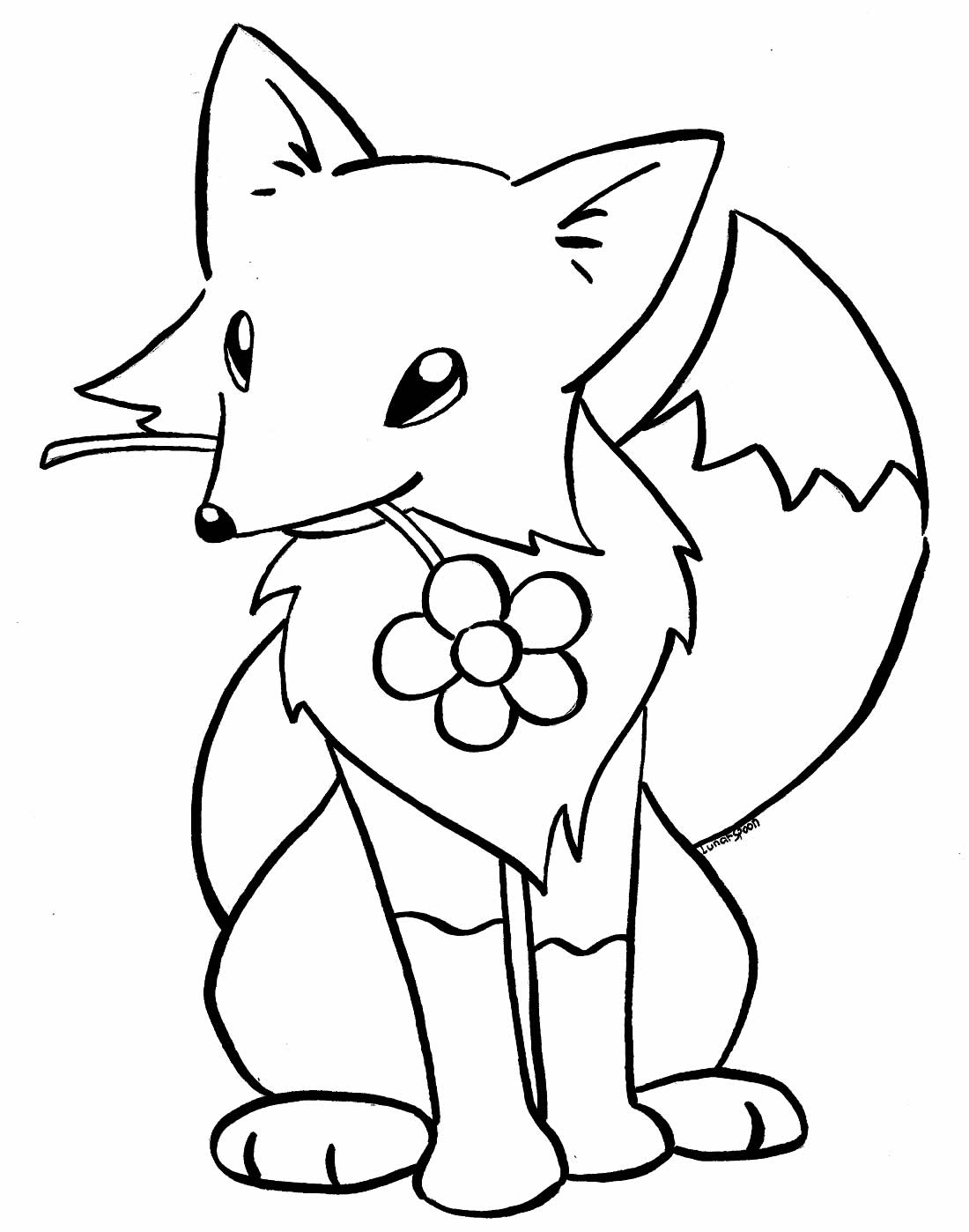 Desenho de Raposa para pintar