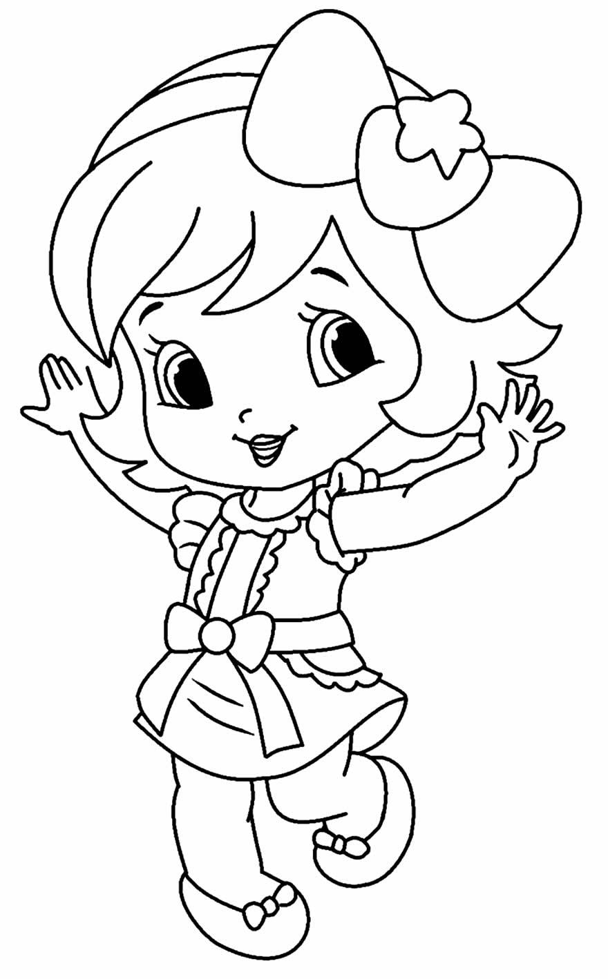 Desenho da Moranguinho para pintar e colorir