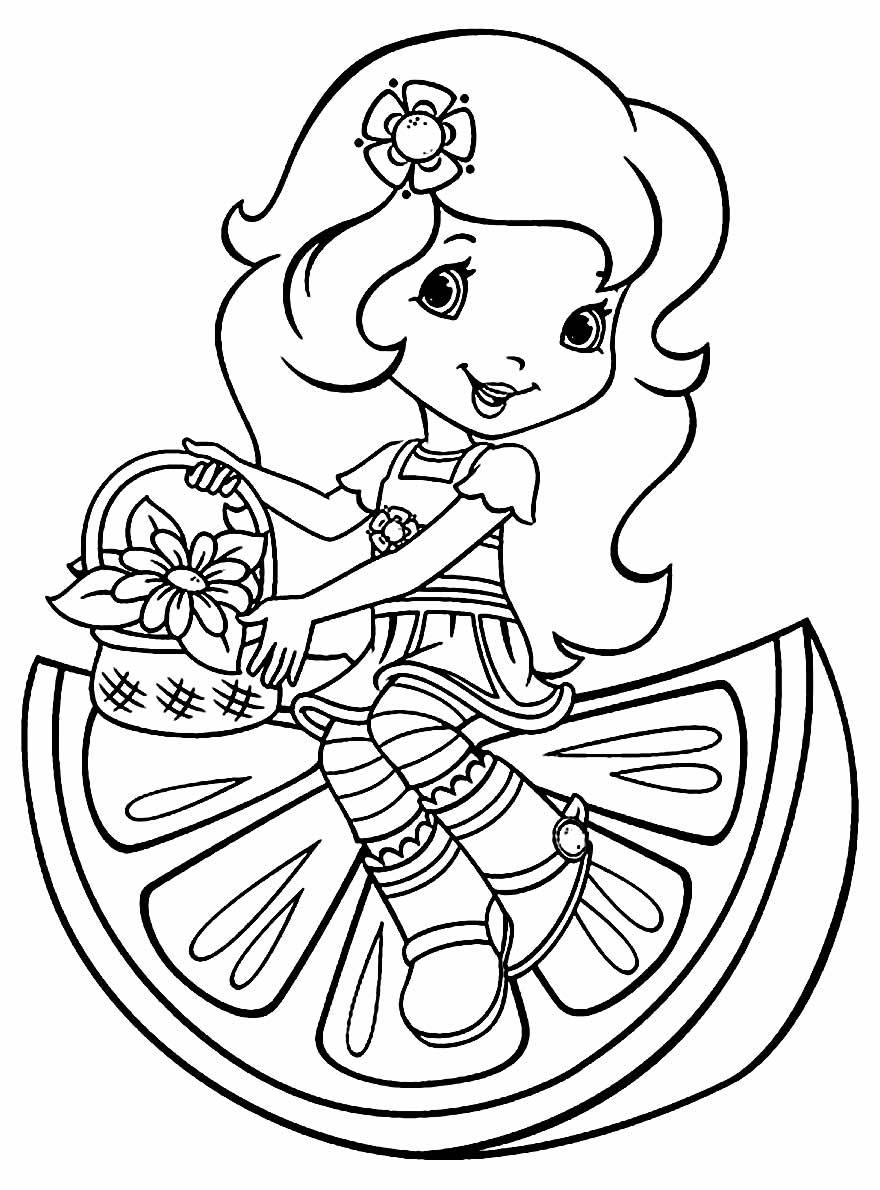 Desenho da Laranjinha para pintar e colorir