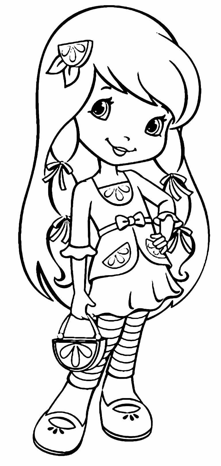Desenho da Moranguinho para imprimir e pintar