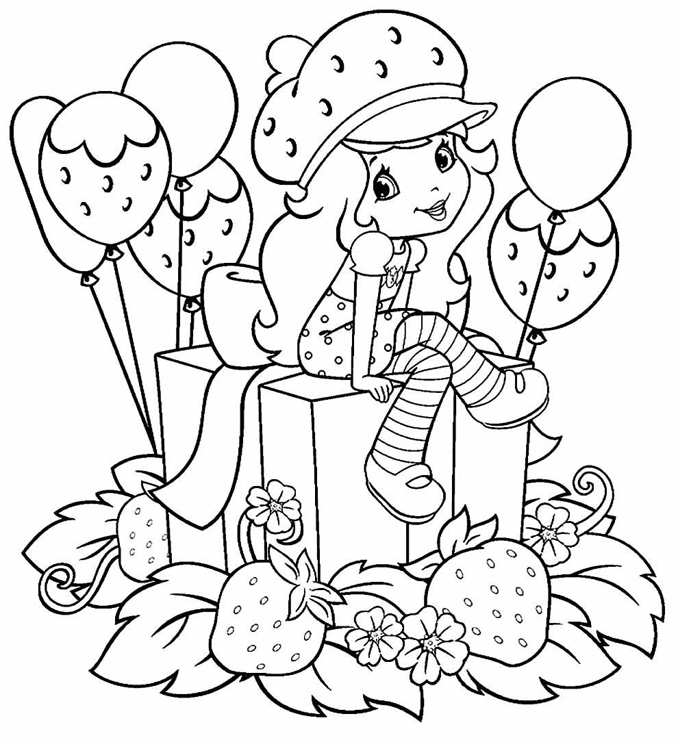 Desenho da Moranguinho para imprimir e colorir