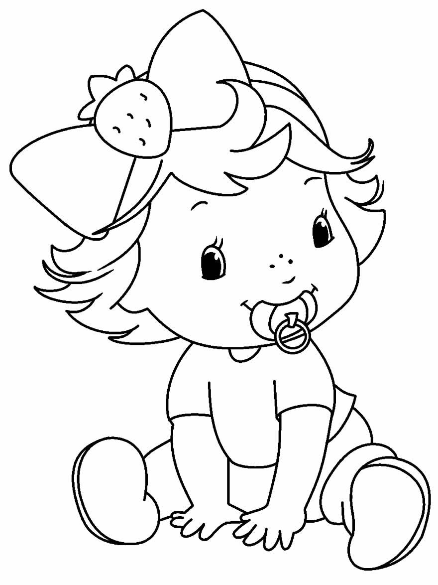 Desenho lindo de Moranguinho para colorir