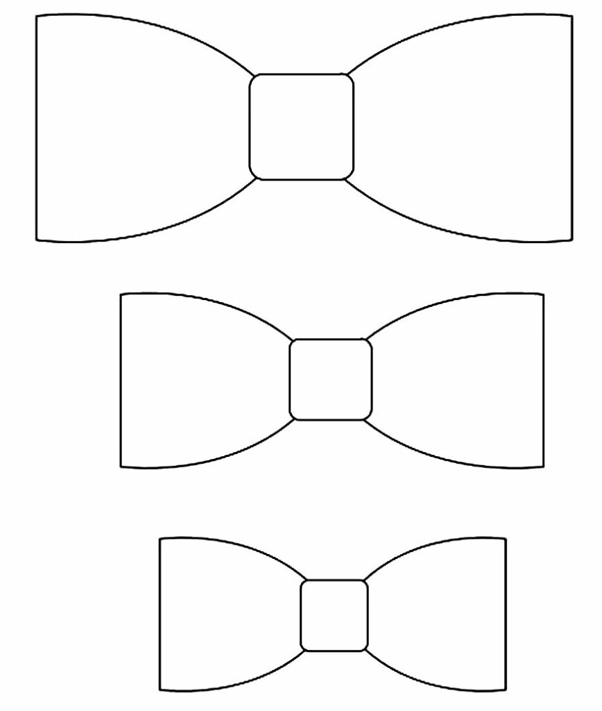 Moldes de laços para imprimir e fazer em casa