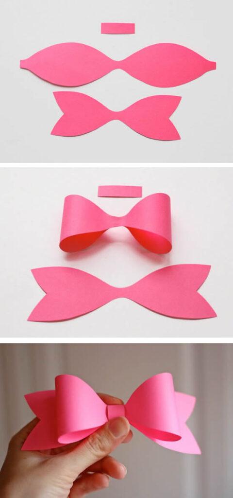 Moldes para fazer laços de papel