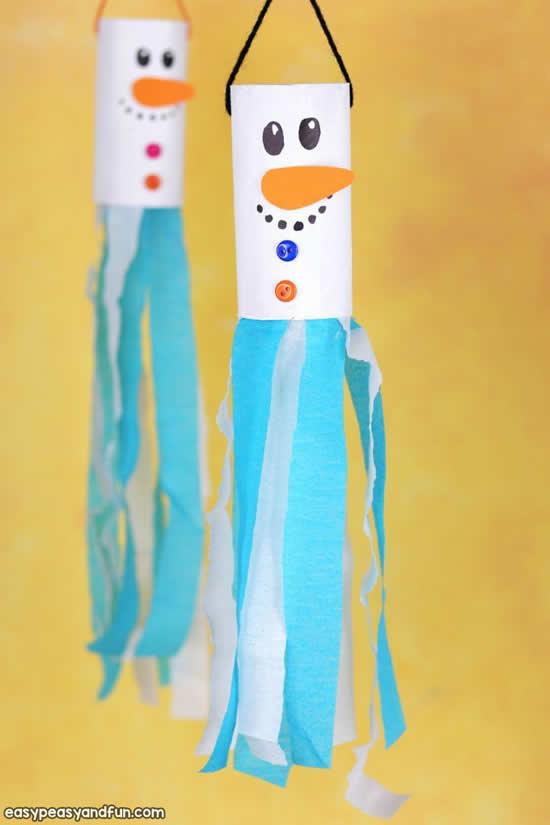Decoração e enfeites com rolos de papelão para Natal
