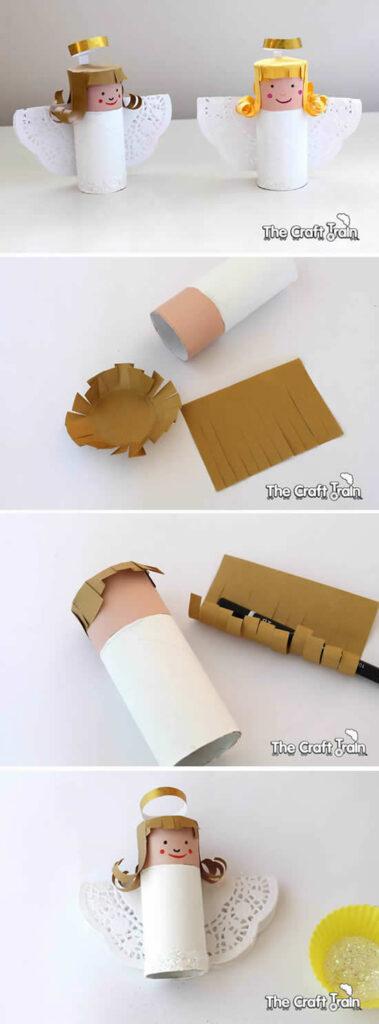 Anjinho com rolo de papel higiênico