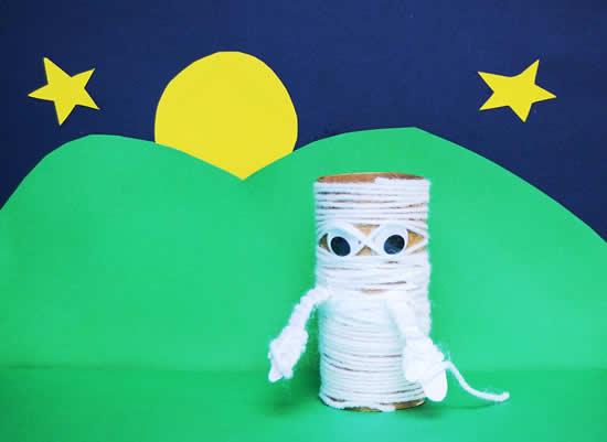 Artesanato criativo com rolo de papelão