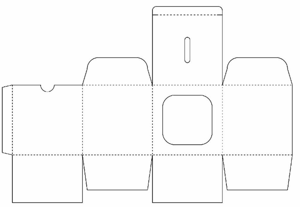 Molde para caixa de papel para Páscoa