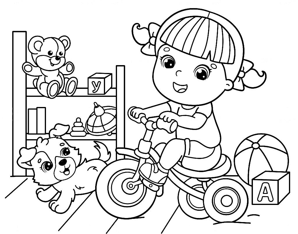Imagem de brinquedos para colorir