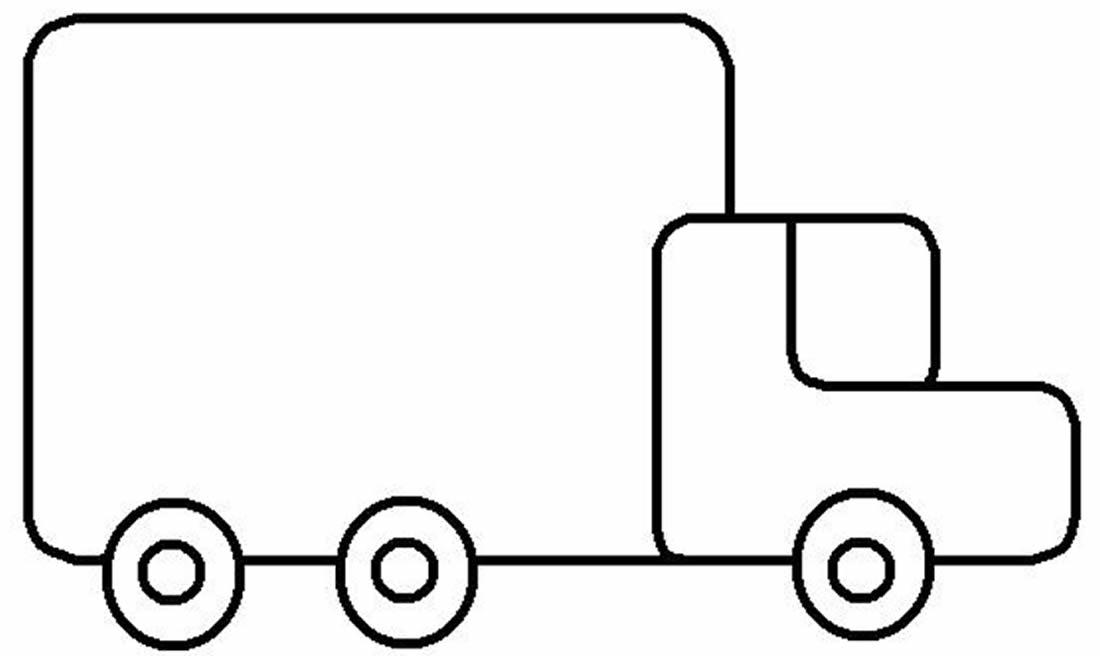 Molde de Caminhão para pintar