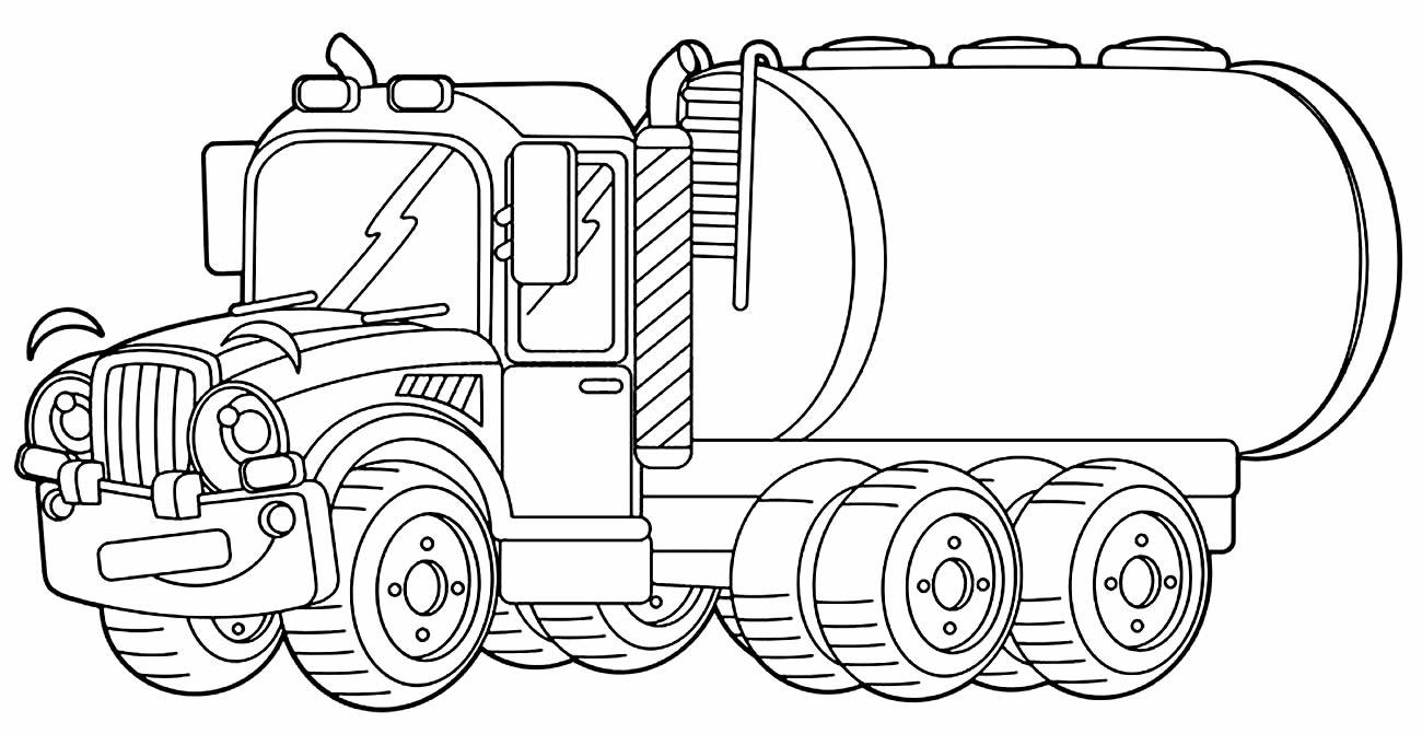 Desenho de Caminhão para pintar e colorir