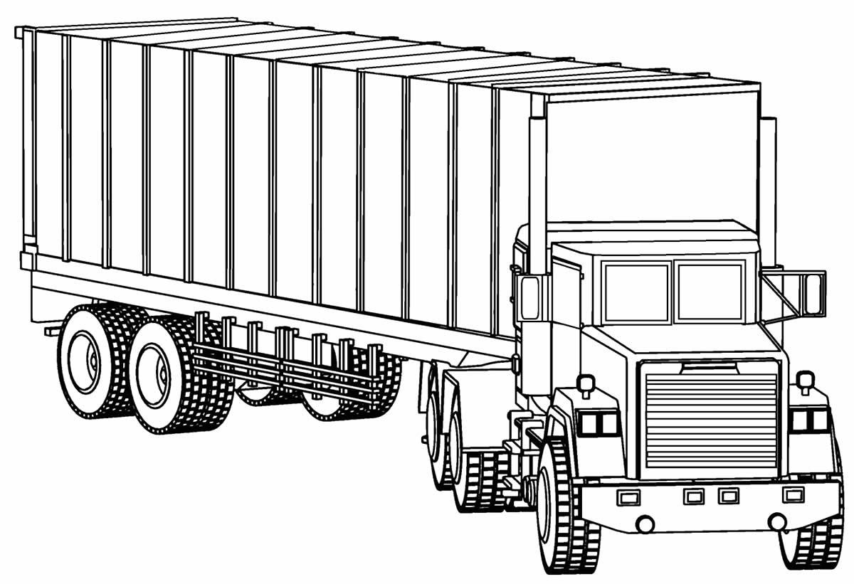 Desenho de Caminhão para pintar