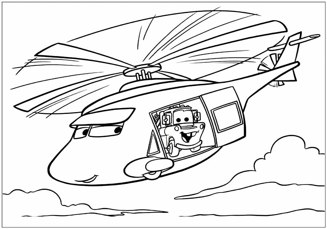 Desenho lindo de Helicóptero