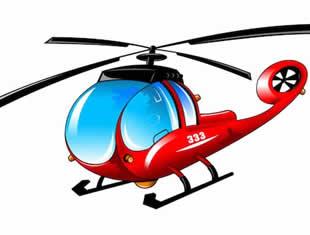 Desenho de Helicóptero para pintar e colorir