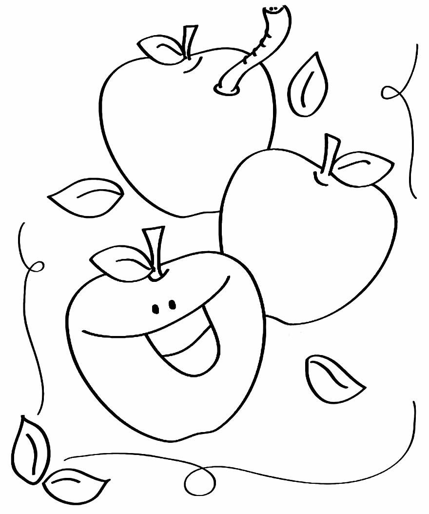 Imagem de Maçãs para pintar
